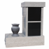 Vertical Cremation Memorial - Two Niche CREM-205-S