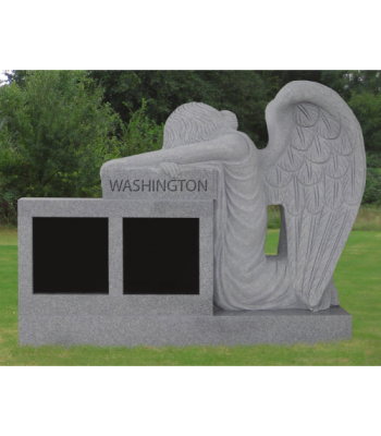 Kneeling Angel Cremation Memorial - Two Niche CREM-207-S