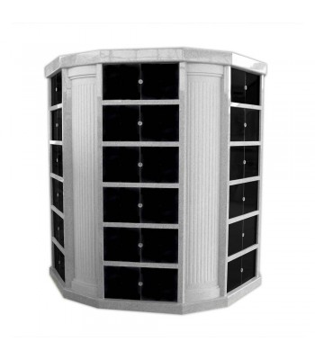 Columbaria 72 Niche Hexagonal Deluxe Six-Sided GLO-CREM-7201-H-A